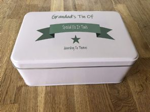 PERSONALISED GRANDAD'S Tool Tin Present ANY NAME Grandpa Pops Dad Bampy Fix It